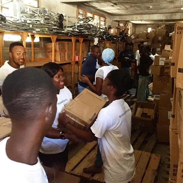 Since #hurricanematthew we've been able to hire 20 30 extra day laborers daily. they are essential to our operations and we're so happy to be able to provide extra income for their families at this difficult time. #haiti #hopeforhaiti