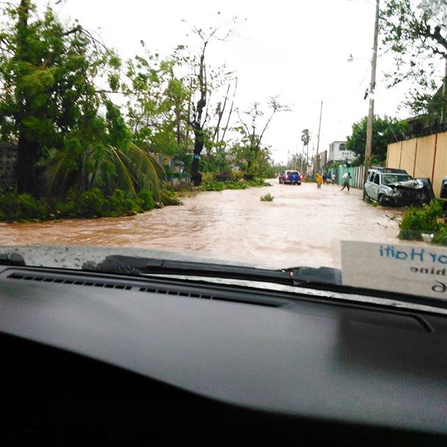 Good morning all, bonjou. we are beginning to assess the damage now that it's safe for some of our staff to move around. as expected, trees are down, homes damaged and flooding is limiting movement throughout #lescayes. we will continue to keep you updated throughout the day, and thank you for all of your support and #hope. #hopeforhaiti #hurricanematthew