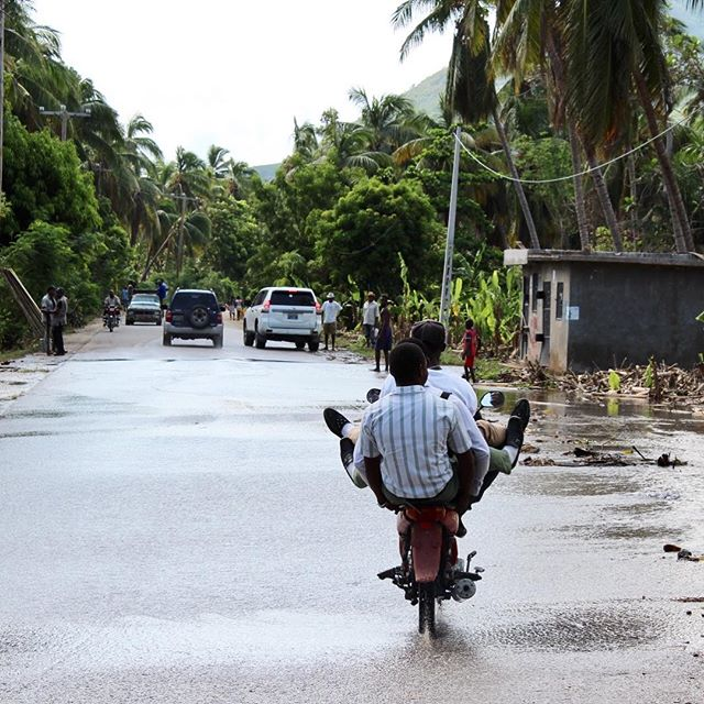 The rains from #hurricanematthew have stopped, but the impact is far from over. many rural roads have been washed away causing entire towns to be cut off. we are working around the clock to reach as many of our partners as possible. #haiti #hopeforhaiti #haiticantwait #givenow