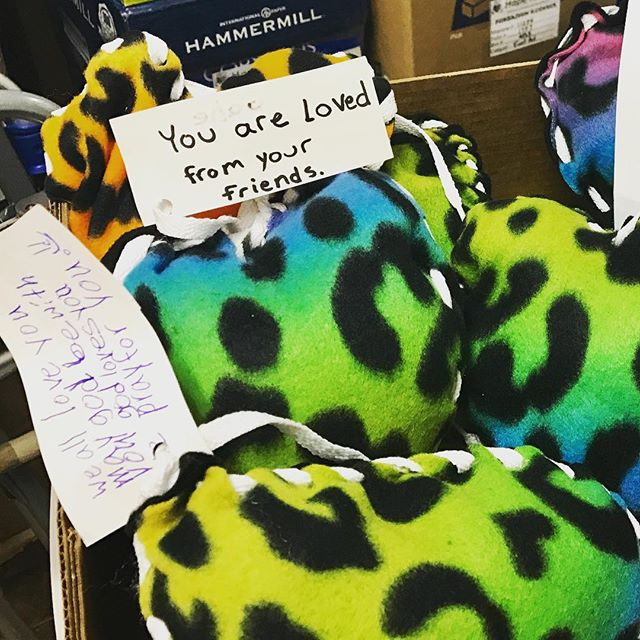 """you are loved."" thank you so much to the children at st. michael's church in florida for these comfort pillows headed to #haiti #hopeforhaiti #love #hope"