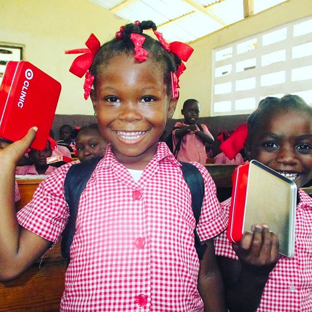 #healthy kids makes us happy, what about you?! #thankyou @target for these great sanitation kits that we were able to give to one of the schools in our #publichealth program! #haiti #hopeforhaiti #healthylife #happy