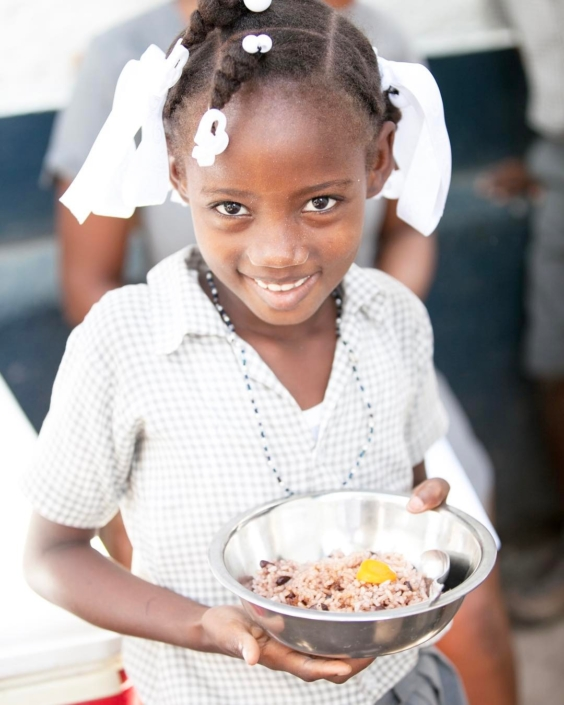 Our #nutrition program works to feed 1,200 students per day, train the cooking staff on healthy food prep & nutrition, and partners with local farmers & stores to source the food. the best part of the program has been seeing the students succeed more in class now that they are properly nourished! #haiti #hopeforhaiti #eatright #foodforthought