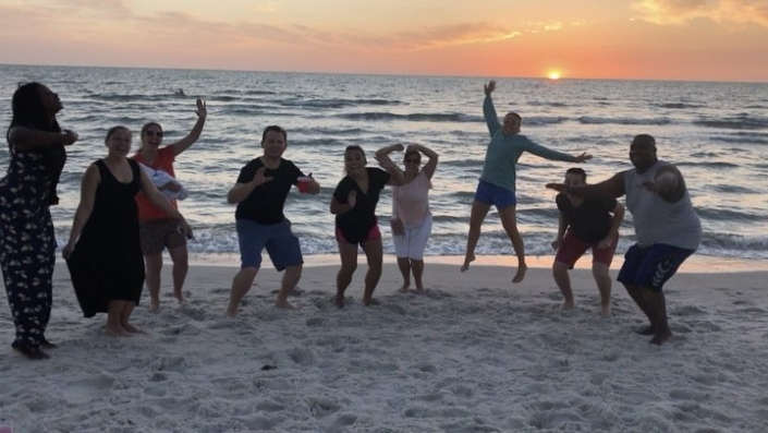 #teamhope celebrating a great first day of strategic planning #bonbagay #sunset #hopeforhaiti #menanpilchaypalou @alexongrochowski @jesscicc87 @mokiina @skylerbadenoch @m hindley @megorazio @cgrassi212 @labelllavita @toughbutterfly @ida soderlind