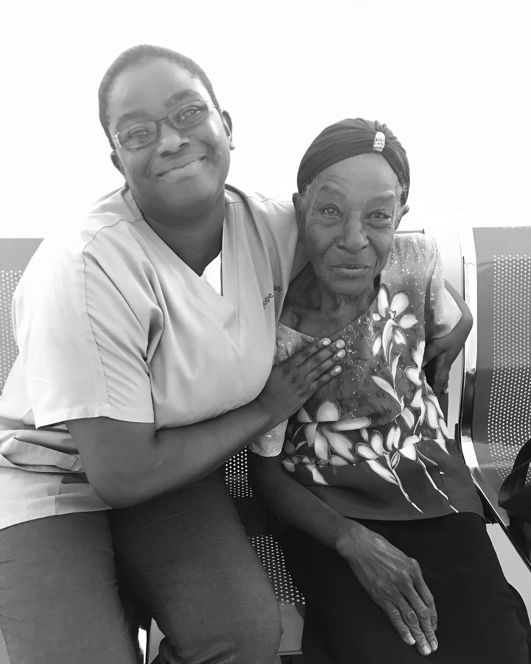 Our fabulous clinic director dr. elmide meets with one of the 15 wound care patients we see daily #haiti #hopeforhaiti #healthcare #healthcoach