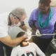 #teamwork at its finest! hope for haiti board member and dentist dr. childs works with our clinic dentist dr. esperance to help serve the people of #lescayes #haiti #hopeforhaiti #healthcare