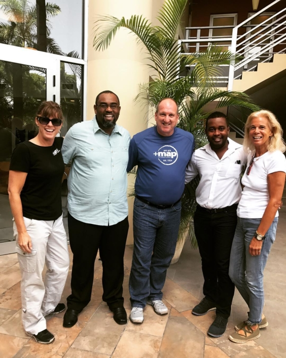 The delegation from @mapintl met with herns and andre today. they are two of our key team members who last year managed the logistics and distribution of medications and medical supplies valued at over $10 million dollars. 80% 90% of these donations come from map international! #thankyou #mesianpil