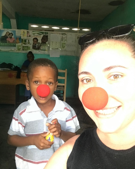 "Join us today on #rednoseday2017 to ""harness the power and astonishing generosity of americans across the country to help end child poverty one red nose at a time!"" wear your noses and tag us for a feature on our page! #haiti #hopeforhaiti #teamrednose"