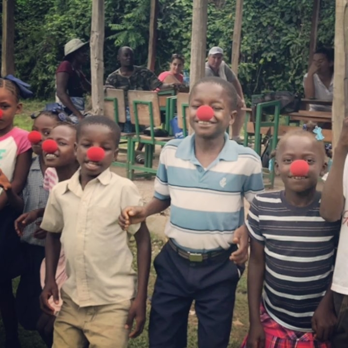 Happy #rednoseday2017 from our kiddos in #haiti! #hopeforhaiti