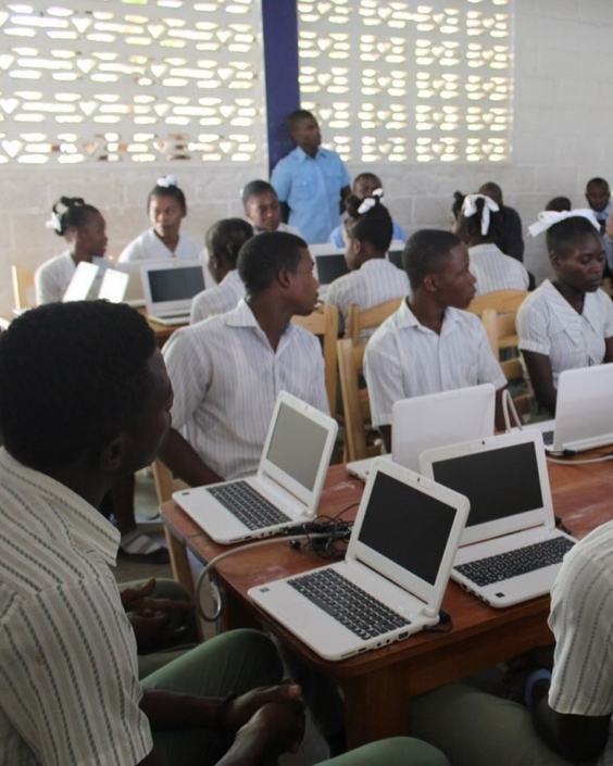 School may be out for the summer, but our computer lab at tete source is open! thanks to donors like you, we've been able to establish 20 computer labs throughout southern haiti, giving computer access to almost 5,000 users. #haiti #hopeforhaiti #computer #technology @endlesscomputers