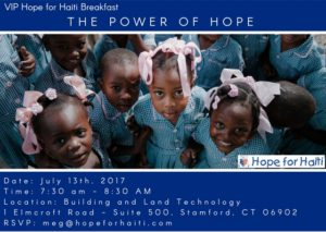 The power of hope breakfast, ct