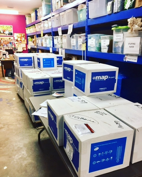 Thank you @mapintl for another amazing shipment of 100 boxes filled with medications and medical supplies! after arriving in haiti, they will be distributed to 11 of our healthcare partners throughout southern haiti! #haiti #hopeforhaiti #healthcare #partnershipsthatwork