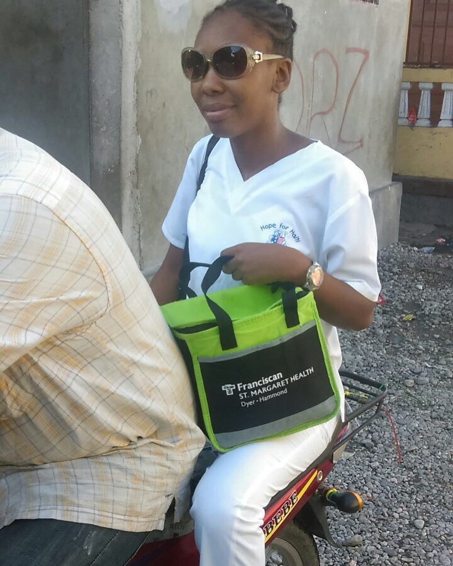 I take a moto taxi to work each morning from my house to the infirmary st. etienne #dayinthelife #travelneverlookedsogood #belmoun #teamhope #haiti