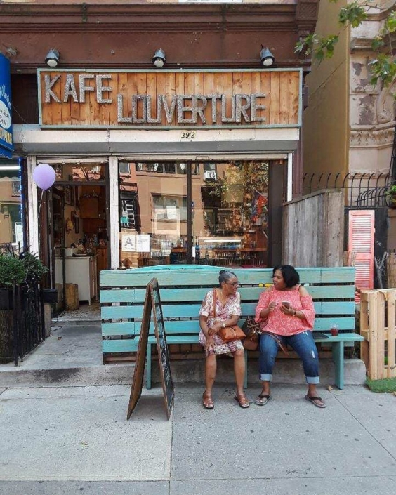 Kafe louverture is a delectable haitian oasis in the middle of bedstuy, brooklyn! stop by for haitian drip coffee, and stay for a patty or a plate of diri djon djon. be sure to take a moment to follow @kafe louverture! #followfriday #haiti #hopeforhaiti #brooklyn #spreadloveitsthebrooklynway