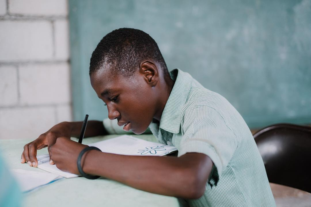An investment in #education is an investment in the future of #haiti. like if you agree! #hopeforhaiti #education #thefuture #timoun photo: @scottsimock