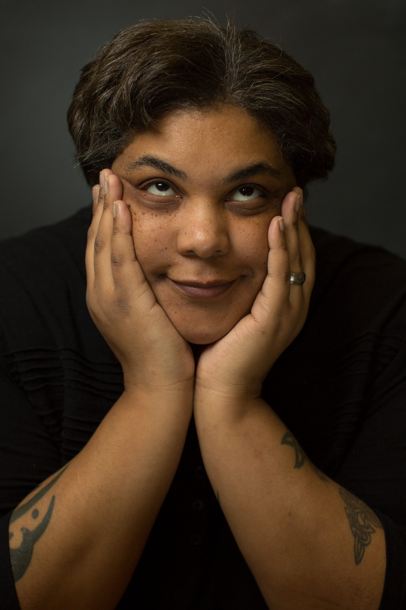 Author Roxane Gay in Coleman hall on the campus of Eastern Illinois University in Charleston, Illinois on January 31, 2014. (Jay Grabiec)